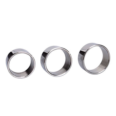 Light Stainless Steel Cock Ring Kit - Room Privée™
