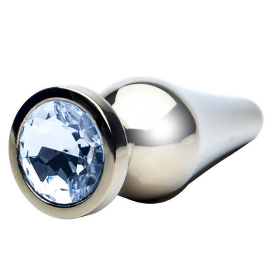 Small Metal Jewelled Butt Plug 8.5 cm - ROOM PRIVÉE - Room Privée™