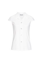 Load image into Gallery viewer, white-vintage-blouse-short-sleeves