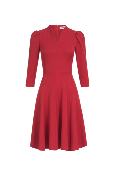 red-classic-dress