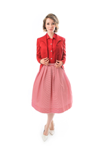 Load image into Gallery viewer, beautiful-red-vintage-blazer