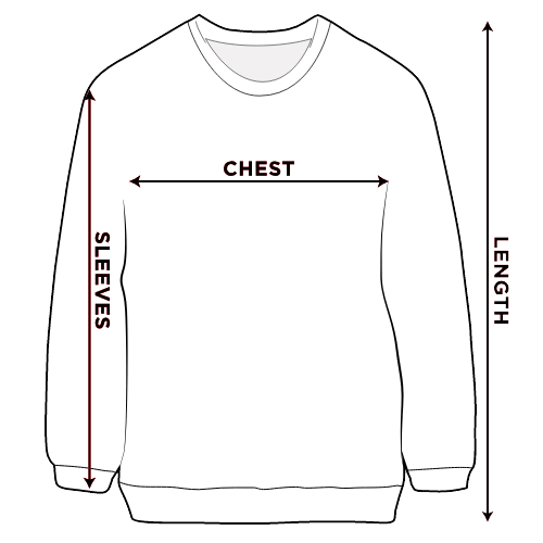 Men T-shirts size chart