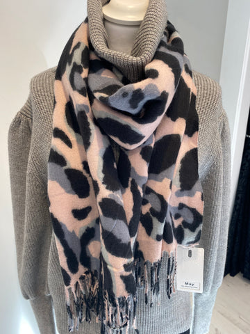Fleece Animal Print Scarf