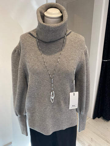 Grey Roll Neck