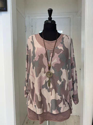 Camo Necklace Top