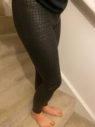 Mock Croc Leggings