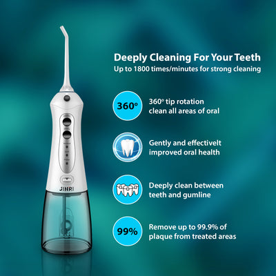 JINRI® Portable Oral Irrigator Water Flosser