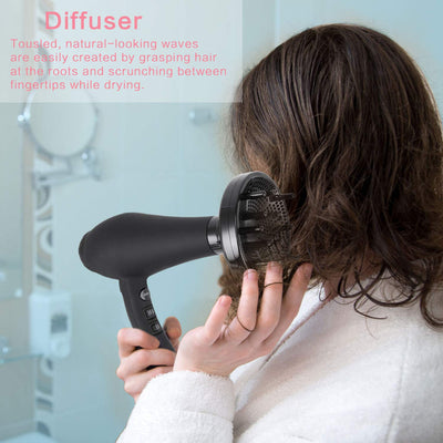 1875W Infrared Professional Salon Hair Dryer, Negative Ionic Blow Dryer for Fast Drying, AC Motor Light Weight Hair Blow Dryer with Diffuser & Concentrator & Comb