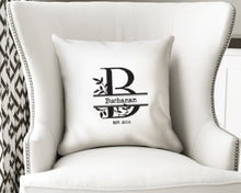 Load image into Gallery viewer, Artisan Pillow Cover - Custom Monogram Family Design