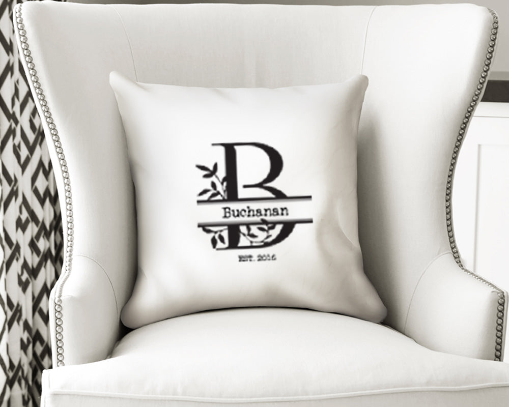 Artisan Pillow Cover - Custom Monogram Family Design