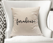 Load image into Gallery viewer, Natural Canvas Throw Pillow Cover - Farmhouse