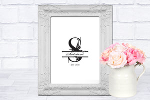 Wall Art Print - Custom Monogram Family Design