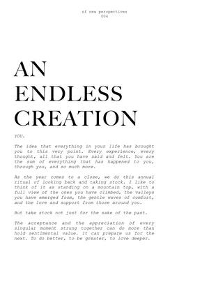 004- AN ENDLESS CREATION