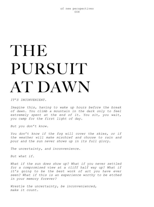 008- THE PURSUIT AT DAWN