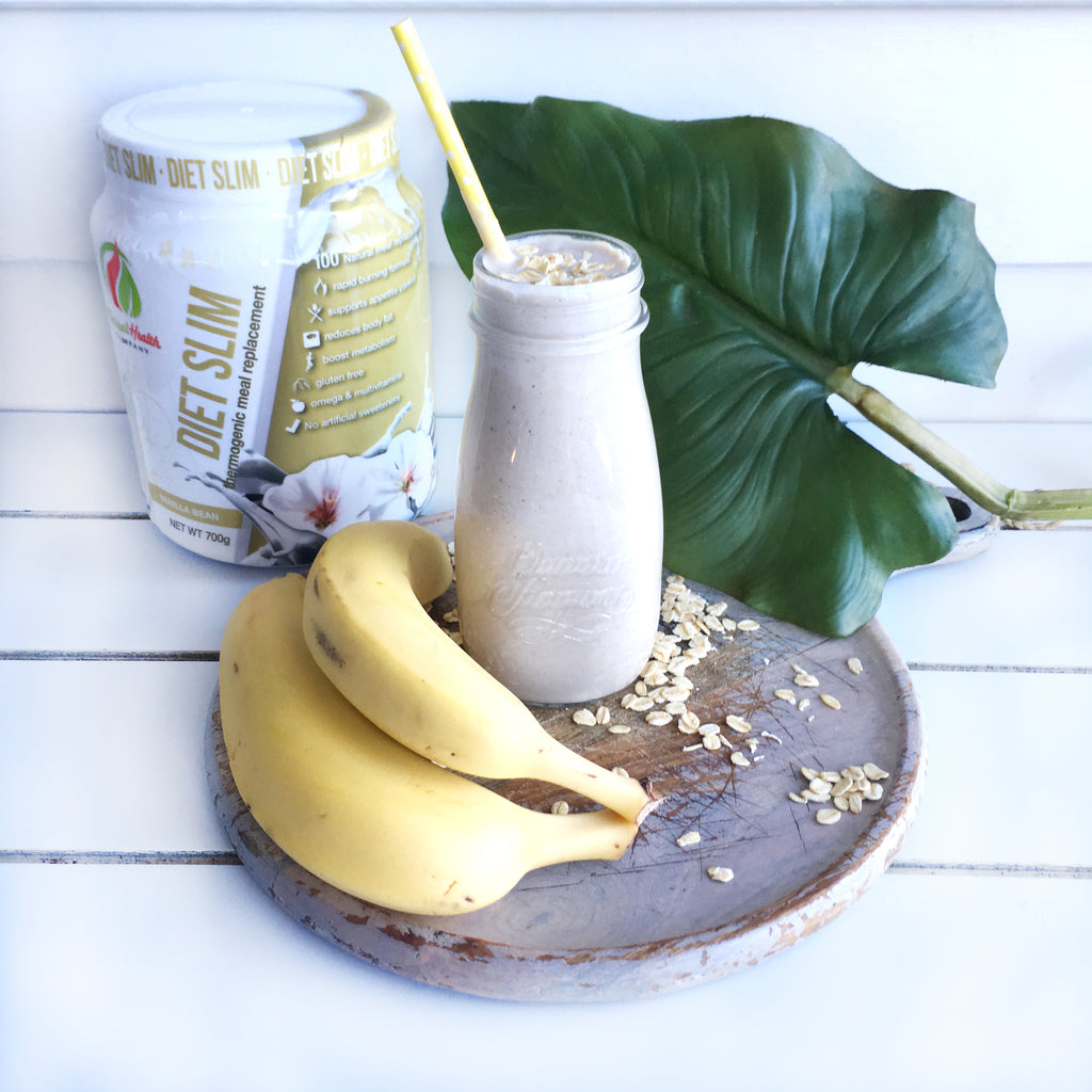 Banana Oat Breakfast Protein Smoothie recipe