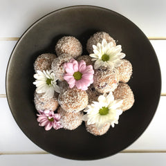 Chocolate Goji Berry and Cranberry Bliss Balls