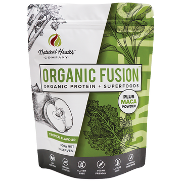 Organic Fusion Tropical Greens organic protein powder