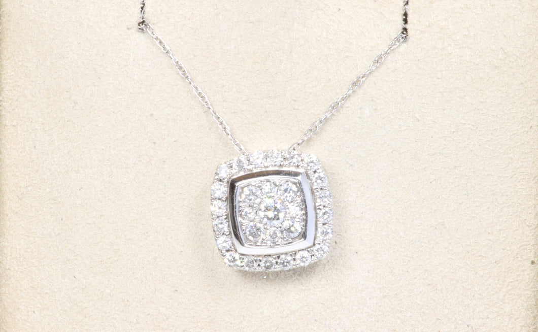 14K WHITE GOLD .33ctw DIAMOND PENDANT 18