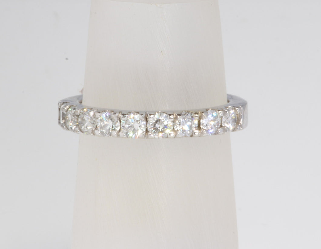 CUSTOM 14K WHITE GOLD 1.00ctw DIAMOND BAND RING SIZE 7.25
