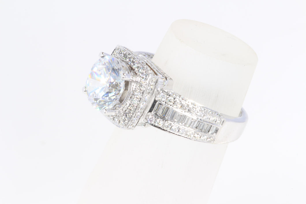 DESIGNER 14K WHITE GOLD DIAMOND SEMI MOUNT ENGAGEMENT RING SIZE 6.5 BY NATALIE K