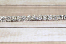 "Load image into Gallery viewer, 14K WHITE GOLD LAB GROWN 3.34tcw DIAMOND TENNIS 7"" BRACELET"