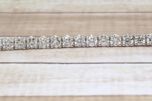 "14K WHITE GOLD LAB GROWN 3.34tcw DIAMOND TENNIS 7"" BRACELET"