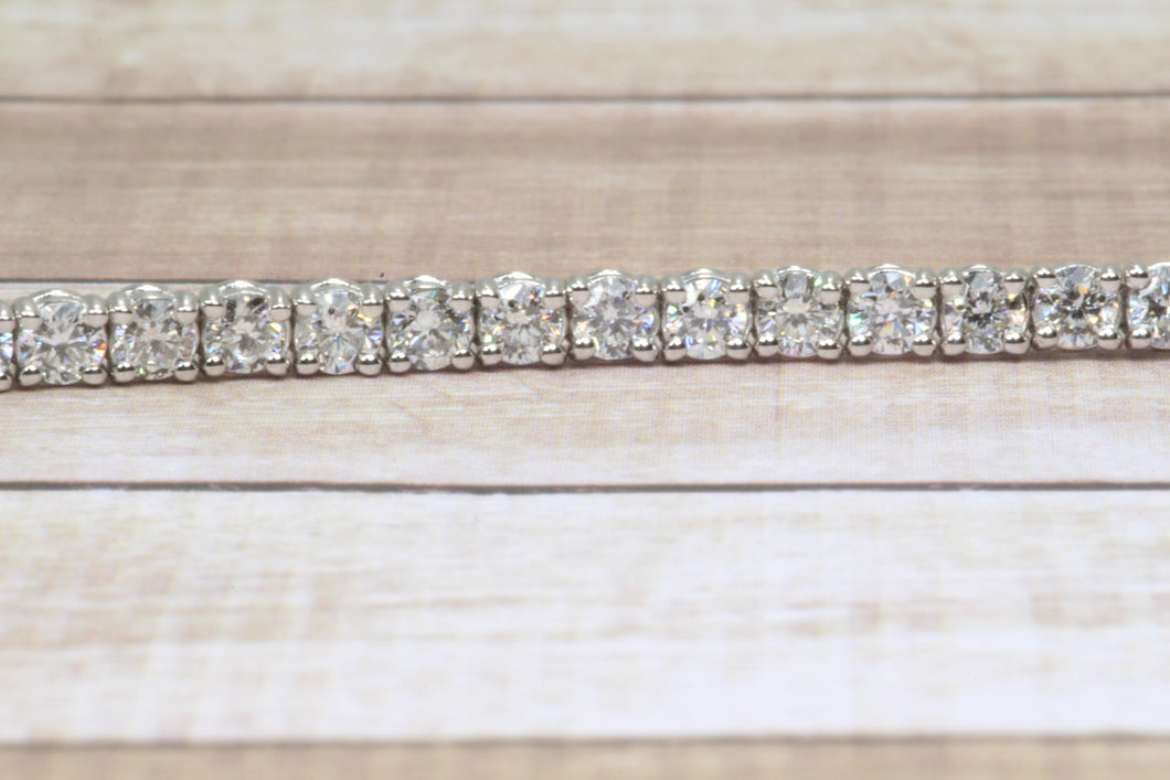 14K WHITE GOLD LAB GROWN 3.34tcw DIAMOND TENNIS 7