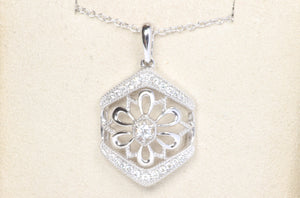 "14k WHITE GOLD DIAMOND 18"" NECKLACE"
