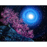 White Tara in Cascading Sakura Original Painting