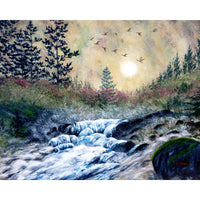 Enchanted Evening at Alsea Falls Original Painting