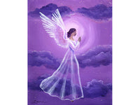 Angel in Amethyst Starlight Original Painting