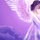 Angel in Amethyst Starlight Original Painting - Laura Milnor Iverson Official Site