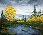 Autumn Pond Original Painting