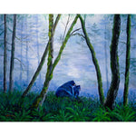 Black Bears in the Mist Original Painting