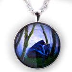 Black Bears in the Mist Pendant