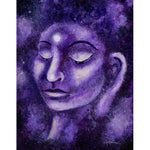 Star Buddha of Purple Patience Original Painting - Laura Milnor Iverson Official Site