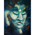 Star Buddha of Teal Tranquility Original Painting