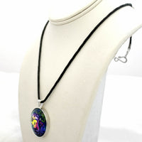 Aurora Tree of Life Meditation Pendant on Zen Cord Necklace