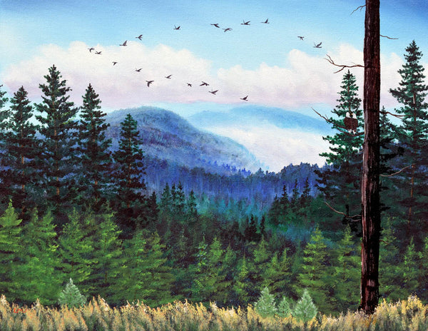 View into the Blue Distance Original Painting Laura Milnor Iverson Official Site