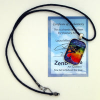 Opening The Chakras Meditation Handmade Rectangle Pendant