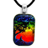 Opening The Chakras Meditation Handmade Rectangle Pendant Laura Milnor Iverson Official Site
