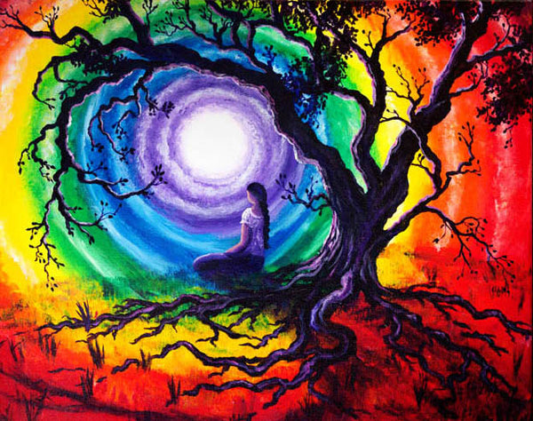 Tree Of Life Meditation Original Painting Laura Milnor Iverson Official Site