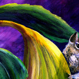 Chipmunk in Sunflowers Original Painting