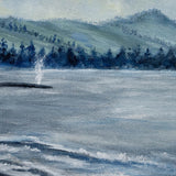 Whale Spouting at Depoe Bay Original Painting