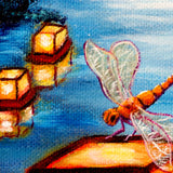 Dance of the Dragonflies Original Painting - Laura Milnor Iverson Official Site