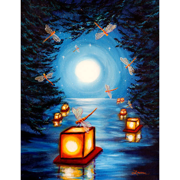 Dance of the Dragonflies Original Painting