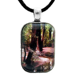 Redwood Stream Reflections Handmade Rectangle Pendant