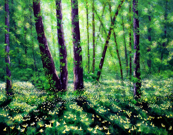 Fawn Lilies in Dappled Sunlight Original Painting - Prints Available