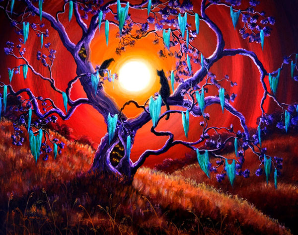 The Halloween Tree Original Painting Laura Milnor Iverson Official Site