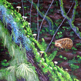 A Hedgehog Wanders Through the Woodland Original Painting